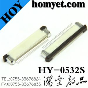 0.5pitch 32pin SMD FPC Connector (HY-0532S) pictures & photos