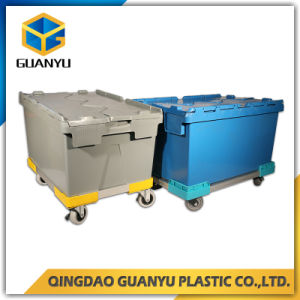 High Quality Transporting Plastic Containers with Attached Lid (Pk64315) pictures & photos