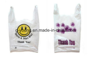 HDPE Logo Printed T-Shirt Packaging Bags pictures & photos