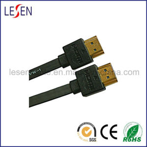 Flat HDMI Cable with Ethernet, Am to Am Plug pictures & photos