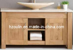 Modern Oak Solid Wood Bathroom Cabinet (BA-1132) pictures & photos
