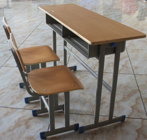 School Furniture Desk and Chair of Wooden or Plastic Material pictures & photos