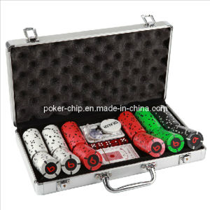 300PCS Poker Chip Set in Round Corner Real Aluminum Case (SY-S73) pictures & photos