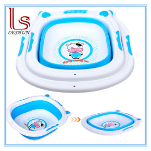 Baby Cute Gift Cartoon Plastic Foldable Thickening Basin Children Washbasin pictures & photos