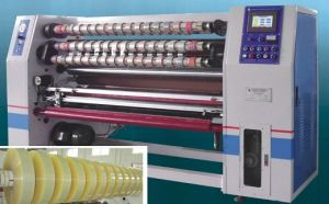 Auto BOPP Adhesive Tape Slitting Machine/BOPP Gum Tape Slitting Machine/Adhesive Tape Slicer Machine pictures & photos