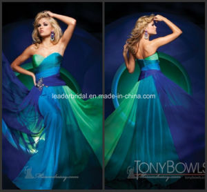 Strapless Floor-Length Multi Colors Bridesmaid Evening Dress, E13428 pictures & photos