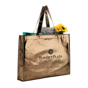 Glamorous Laminated Non-Woven Shopping Tote (hbnb-442) pictures & photos