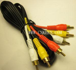 Audio Video Cable RCA Cable 3RCA Plug to 3RCA Plug (AV-042)