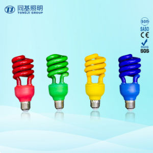Energy Saving Lamp 40W Color Half Spiral Halogen/Mixed/Tri-Color E27/B22 220-240V pictures & photos
