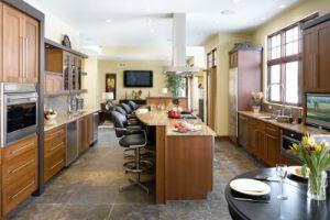 Solid Oak Wood Kitchen Furniture Set (AGK-008)