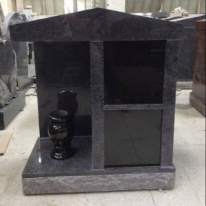 Bahama Blue Granite Columbarium with Black Niche Door pictures & photos
