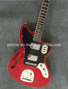 Hollow Body F Hole Flamed Maple Top Quality Custom Electric Guitar pictures & photos