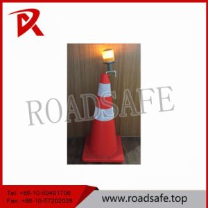 PVC Collapsible Traffic Cone Light on The Top Cone pictures & photos