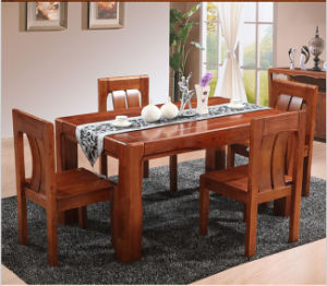 Modern Solid Ash Dining Room Table and Chairs pictures & photos