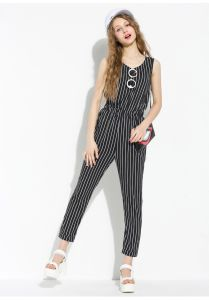 2015 New Arrival Special Design Stripe Jumpsuit for Women pictures & photos