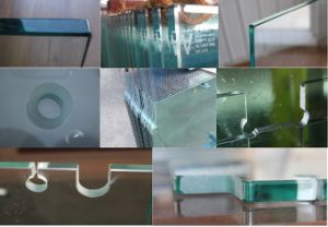 8mm/10mm/12mm Shower Glass with Grooves/Holes/Polished pictures & photos