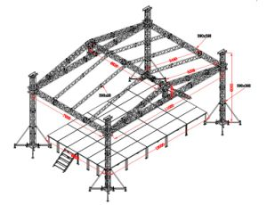 Outdoor Events Aluminum Stage Truss with Roof System (CS30) pictures & photos