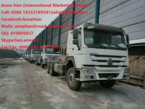 Capacity 25 - 40 Tons Cargo Truck Chassis Sinotruk HOWO7 Zz1257n4641W Tr691 Model Tyre