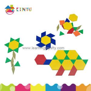 Plastic Pattern Blocks Puzzle for Pupil (K003) pictures & photos