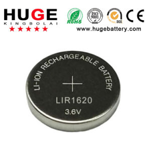 3.6V Rechargeable Lithium Button Cell Lir1620 pictures & photos