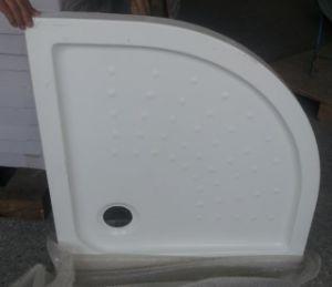 Corner Acrylic Shower Tray Basin with Flat Fiberglass Bottom pictures & photos