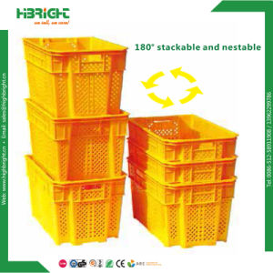 New Stylish Nestable and Stackable Plastic Vegetable Crate pictures & photos