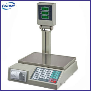 Electronic Digital Price Computing Scale with Printer with Pole Display pictures & photos