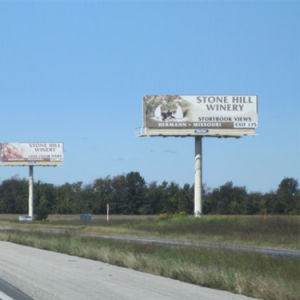 Two Faces Steel Structure Advertising Double Side Billboard pictures & photos