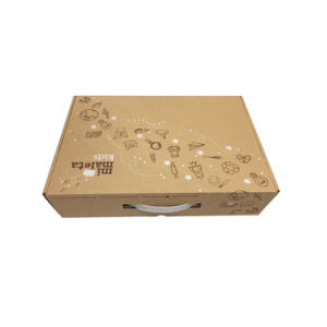 Packaging Cardboard Corrugate Paper Carton Box Package Empty Boxes with Handle pictures & photos