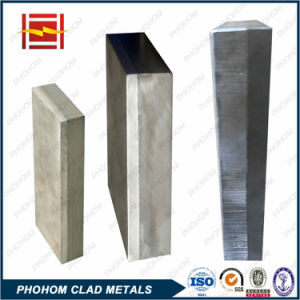 China Factory Aluminium Clad Stainless Steel Bimetallic Plate Explosion Welding Block in Aluminum Smelter pictures & photos