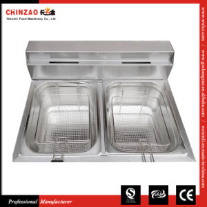 Single Tank Gas Deep Fat Fryer Commercialt Frying Machine Chz-20L pictures & photos