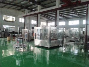Full Automatic Flavored Yogurt Bottle Washing Filling and Capping Machine pictures & photos