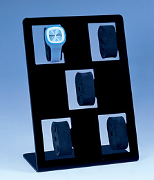 Square Standing 5 Holes EVA Display Watch Placed Plastic Watch Stand pictures & photos