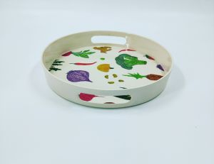Eco Bamboo Fiber Serving Tray with Print (BC-TP1010) pictures & photos