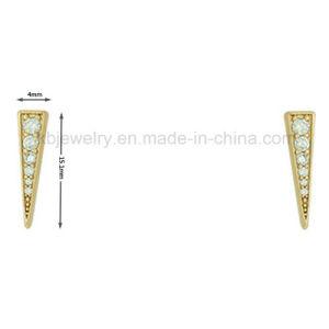 Fashionable Triangle Earrings Jewelry Plated Ear Stud (KE3206) pictures & photos