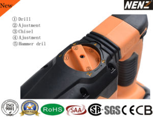 "Nenz 1-3/16"" Multi Function Cordless Rotary Hammer with 2 Lithium Batteries (NZ80) pictures & photos"