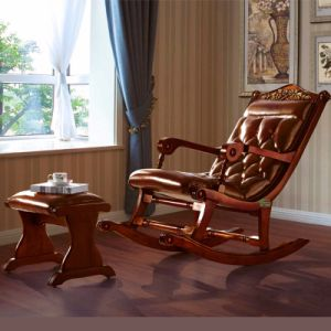 Classic Rocking Sofa Chair with Ottoman for Living Room Furniture pictures & photos