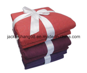 Soild Color Embossed Microfiber Comforter pictures & photos