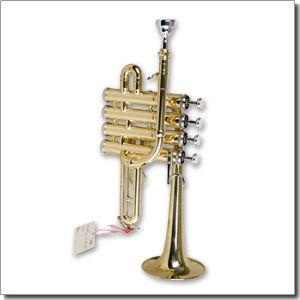 Golden Lacquered Bb Key Piccolo Trumpet/Pocket Trumpet/Mini Trumpet (PCT811G) pictures & photos