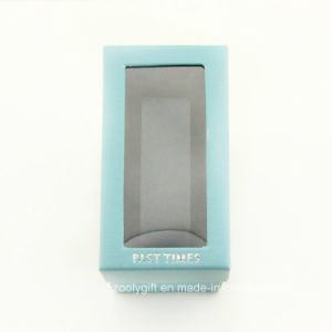 Watch Paper Gift Packing Box with Clear Window and Stamping Logo pictures & photos