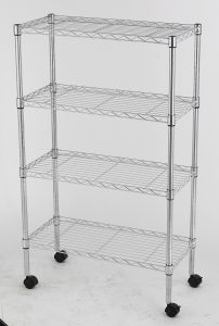 New 4 Tiers Chrome Metal Commecial Wire Shelving NSF Approval (L7535125A4W) pictures & photos