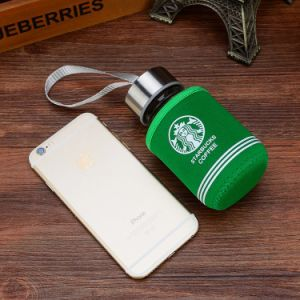 Office Sport Glass Beverage Bottle Glass Water Bottle with Colorful Nylon Sleeve pictures & photos