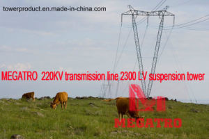 Megatro 220kv Transmission Line 2300 LV Suspension Tower pictures & photos