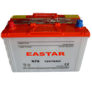 Super JIS 12V75ah N70zl Dry Car Battery pictures & photos