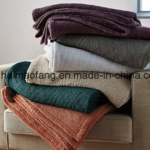 Woven Pure Cotton Blanket pictures & photos