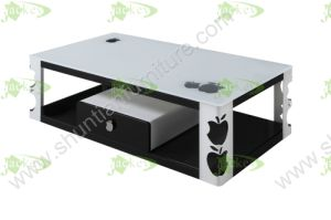 (SJ-163) Home Furniture Modern Simple Tempered Glass Coffee Table pictures & photos