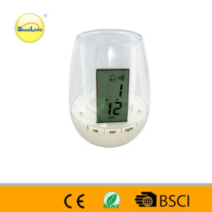 2014 Hot Sale Transparent Plastic Pen Holder Clock