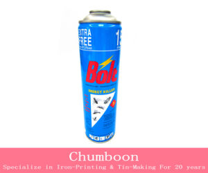 Aerosol Tin Can Print with Special Color Effect