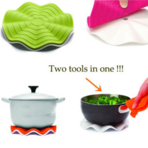 Silicone Trivet with White Nylon Base, Pot Grip pictures & photos