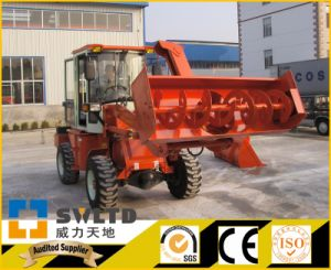 Small Wheel Loader with Snow Blower pictures & photos